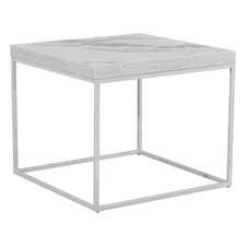 Lucien Faux Marble End Table