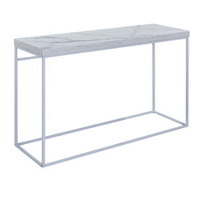 Lucien Faux Marble Console Table