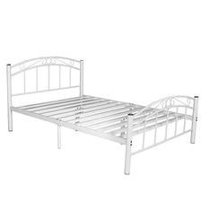 White Brooklyn Metal Bed
