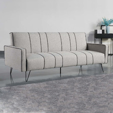 Grey Leslyn 3 Seater Sofa Bed