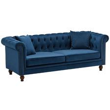 Levi 3 Seater Velvet Sofa