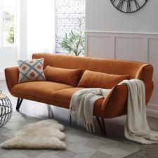Brown Cyrus 3 Seater Sofa