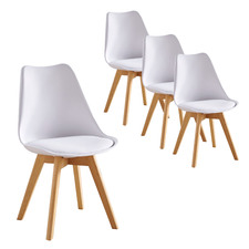 Oliver Replica Padded Faux Leather Dining Chairs (Set of 4)