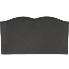 Ebony Plain Upholstered Heart Bedhead