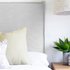 Frost Grace Upholstered Headboard with Slipcover