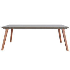 Breindel Red Ironbark Wood & Concrete Coffee Table