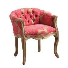 Oak Upholstered Armchair