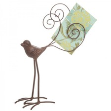 Bird Card Holder with Wire Tail