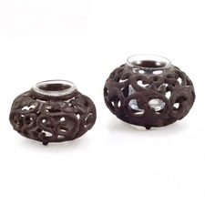 Tealight Holder with Glass Cup (Set of 2)