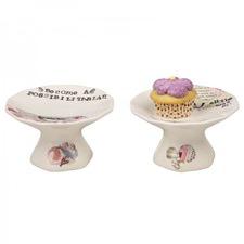 Round Cake Pedestal (Set of 2)