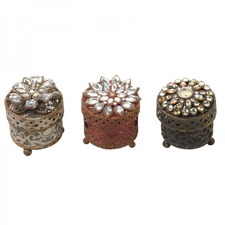 Metal and Zinc Jewellery Box (Set of 3)