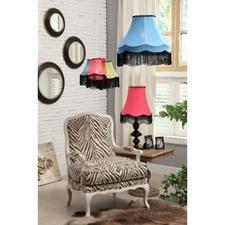 Wooden Upholstered Zebra Print Armchair