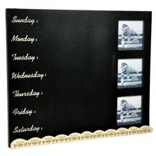 Wooden Black Board Photo Frame