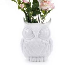 Large Dolomite Owl Vase