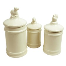 3 Piece Dolomite Canisters with Lid Set