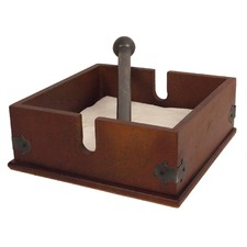 Plywood Napkin Holder with Metal Bar