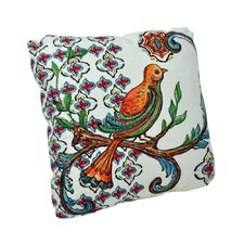 Square Canvas Pillow with Bird Image