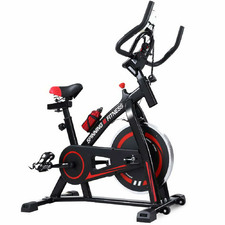 Black Spin Bike with Accessories