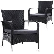 Gardeon PE Wicker Outdoor Armchairs (Set of 2)