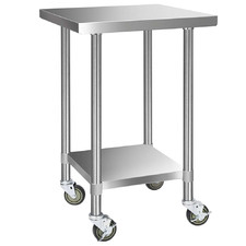 Cefito 430 Stainless Steel Kitchen Prep Table with Wheels