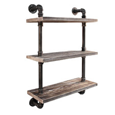 Artiss 3 Tier Wooden Wall Shelf