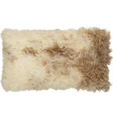 Tan & White Jacob Sheepskin Cushion