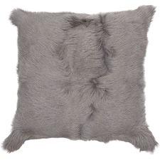 Large Silver Himalayan Goatskin Cushion