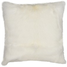 White Himalayan Goatskin Cushion