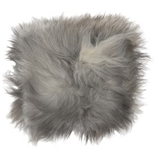 Natural Grey Icelandic Sheepskin Cushion