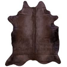 Dyed Chocolate Grey Cow Hide Rug