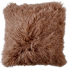 Camel Mongolian Sheepskin Cushion