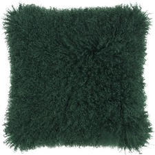 Emerald Mongolian Sheepskin Cushion