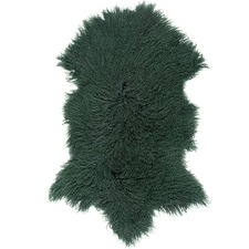 Emerald Green Mongolian Sheepskin Rug