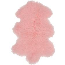 Pink Mongolian Sheepskin Rug