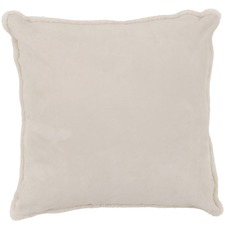 Cream Suede Cushion