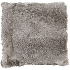 Grey Rabbit Fur Cushion