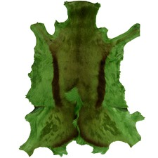 Dyed Lime Springbok Throw Rug