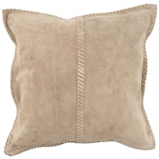Whip Stitch Leather Cushion