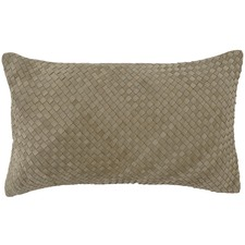 Bottega Weave Rectangular Leather Cushion