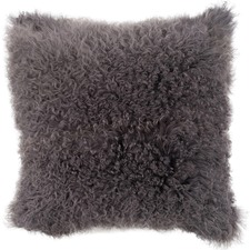 Charcoal Mongolian Sheepskin Cushion