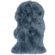 Ash Blue Merino Sheepskin Rug