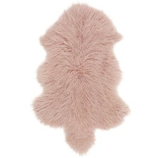 Rose Mongolian Sheepskin Rug