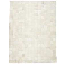 White Thredbo Patchwork Cowhide Rug