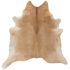 Large Beige & White Cow Hide Rug