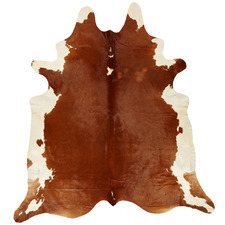 Tan & White Cowhide Rug