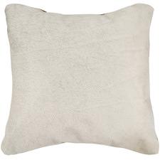 White Cowhide Cushion