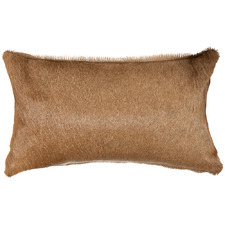 Tan Hartebeest Hide Lumbar Cushion