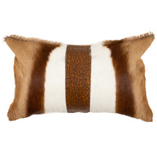 Tan & Beige Springbok Hide Lumbar Cushion