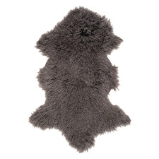 Charcoal Nuallan Mongolian Sheepskin Rug