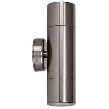 240V Tivah Up / Down Wall Pillar Light Long Body Titanium Anodised Aluminium